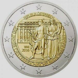 2 euro Autriche 2016 UNC  les deux cents ans de la Banque nationale d'Autriche