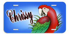 Greenwing Macaw Auto License Plate Personalize Any Name Or Text In Any Color