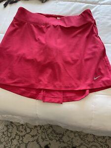 Nike Golf Women's Skirt Skort Dri-FIT Crimson Red Size Medium - Brand New