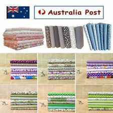 7pcs Fabric Material Patchwork DIY Floral Cotton Sewing Cloth Quilt Quilting AU