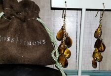"Ross Simons 14k Yellow gold Tiger's eye 2.5"" Dangle drop Earrings $395"