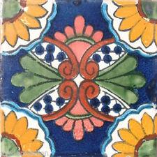 C#037) MEXICAN TILES CERAMIC HAND MADE SPANISH INFLUENCE TALAVERA MOSAIC ART