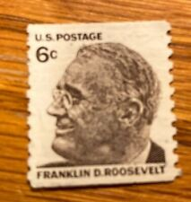 Franklin D. Roosevelt 6 Cent Stamp - Vintage and Unused - Valid US Postage -