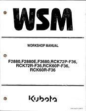 Kubota F2880(E) F3680 Mower Workshop Manual 97897-11903