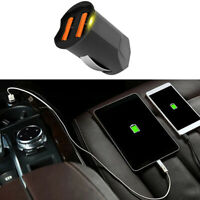 Universal Dual USB 2.1A Car Phone GPS Charger Adapter 2-Port 12 24V Accessories