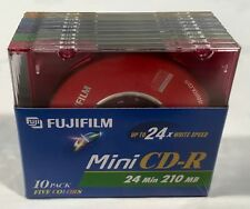 Fujifilm Mini CD-R 24 Minute 210MB Up to 24x Write Speed Pack of 10 Fuji Film