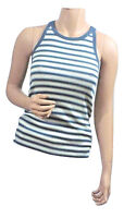 RALPH LAUREN NEW SLEEVELESS RACER-BACK TANK TOP M L STRIPED CASUAL NWT (40)