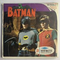 """View-Master Sawyers B492 BATMAN IN """"THE PURR-FECT CRIME"""" 1966 3 Reels + Booklet"""