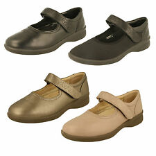 Padders Sprite Womens Ladies Extra/super Wide Velcro Health Flat Mary Jane Shoes Nude Leather UK 8