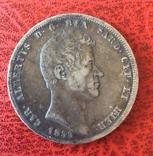 Italie - Sardaigne -  Jolie monnaie de 5  Lire 1833   Genoa