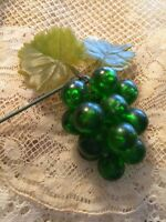 Vintage Millinery Grapes Hat Lucite Acrylic Green Floral Craft Supplies