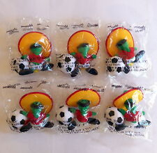 Set of 6 soft toys (18 cm) PIQUE the oficial WORLD CUP mascot MEXICO 1986 sealed