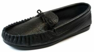 Coopers Moccasin Black Slip on Moccasins Slippers Handmade in England