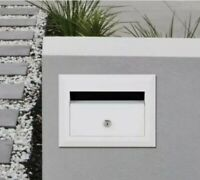 Sandleford 230mm White Brick in insert A4 Front Opening Letterbox Brickies
