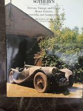 Sothebys Classic Car Catalogue