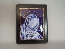 Vintage Crown Bavaria Porcelain Replica Byzantine Icon Handmade