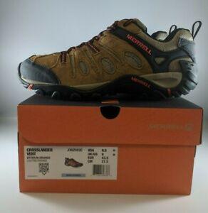 Merrell Crosslander Vent Mens Hiking Shoes Size 9.5 Otter/Orange J362583C