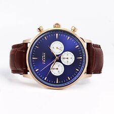 Grand Frank - Men's Watch - Montpellier BLUE - Chronograph - In Box - NEW