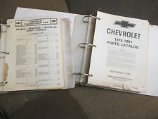 Chevrolet Nova Camaro Impala Malibu El Camino car parts manuals 1976 thru 1981