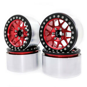 4X 2.2'' Alum Beadlock Wheel Rim for 1:10 RC TRX4 AXIAL Wraith AX10 SCX10 II