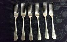 WALKER & HALL Cutlery - LAUREL Pattern - set of 6 Dinner Forks