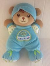 Fisher Price Baby's My First Bear Blue Plush Rattle