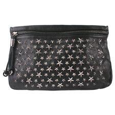 100% Authentic Jimmy Choo Zena Star Studded Leather Clutch Bag Purse