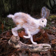 Hare, Snow Hare, Lievre - Needle Felted Animal Sculpture, OOAK,