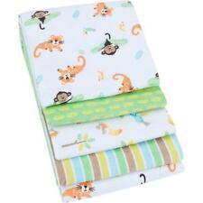 Granimals 4-pack Infant/Baby Receiving Blankets (Green Safari)