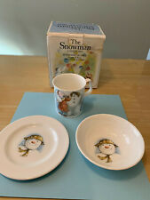 Royal Doulton 1985 Build A Snowman Children'S Bowl, Mug & Plate Set Nib