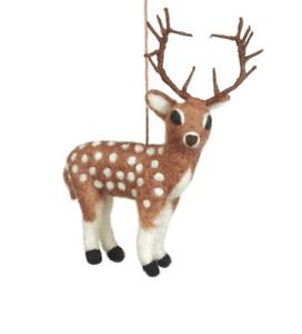 'Stag' Handmade Felt So Good Biodegradable Fair Trade Hanging Decoration