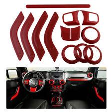 12pcs Door Handle Steering Wheel Decoration Trim For 2011-2018 Jeep Wrangler JK