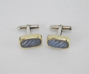 Cufflinks with chalcedony in 925 sterling silver