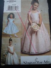 Vogue for Me 7681 Little Girl's Flower Girl Dress Sizes 2,3,4,5