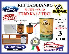 KIT TAGLIANDO FILTRI + OLIO MOTORE BARDAHL 5W30 FORD KA 1.3 TDCI