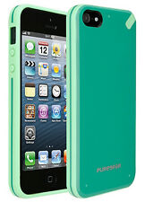 PUREGEAR TEAL/LIME SLIM SHELL CASE HARD GLOSSY COVER FOR APPLE iPHONE
