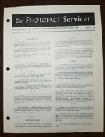 Set 216 Servicer August 15, 1953 Sams Photofact Rare Vintage