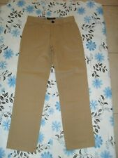 Just Jack size 10 boy's cotton beige chino straight leg pants in VGC