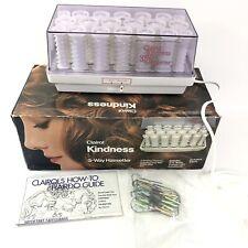 Vtg CLAIROL KINDNESS DELUXE 3-Way HAIRSETTER Model K400S 20 Instant HOT ROLLERS