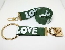1Set (2pcs) 2 in 1 Wide 2.5cm Lanyards Neck Strap For ID Pass Card Badge Gym