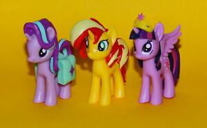 My Little Pony Starlight Glimmer and Sunset Shimmer Trio Set of 3 Egmont Figures