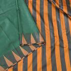Sanskriti New Saree Art Silk Green Woven Bollywood Sari With Blouse Pc Fabric