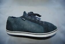 Dark Gray Suede & Leather Sheepskin Lined UGG AUSTRALIA Laced Sneakers Man's 10
