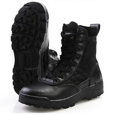 Men's Boots SWAT Special Force Combat Side-Zipper Work Security Boots