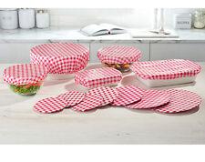 12 VICHY reutilizable Elastizado Comida tapa Fundas protector Cocina Picnic