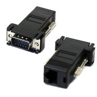 VGA To RJ45 Adapter VGA Extender Male To Lan Cat5 Cat5e RJ45 Ethernet Adapter