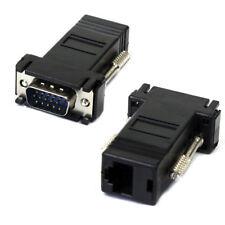 VGA To RJ45 Adapter VGA Extender Male To Lan Cat5 Cat5e RJ45 Ethernet Adapter