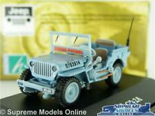 WILLYS JEEP CAR MODEL CJ-2A ARMY MILITARY OPEN 1:72 SIZE CARARAMA LT BLUE T3