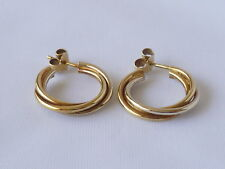 Butterfly 18 Carat Yellow Gold Hoop Fine Earrings