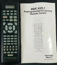 Original B&K AV 5.1 System Controller Remote Control with Manual